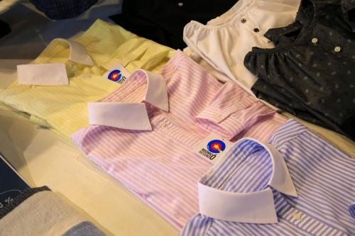 日本のへその緒フェアの播州織カッターシャツ