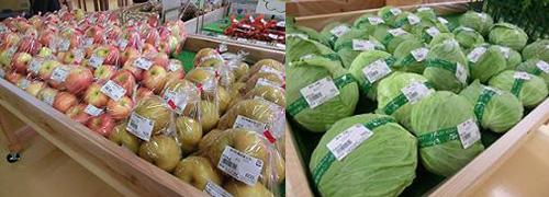 北はりま旬菜館の新鮮野菜