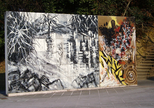 西脇市岡之山美術館のセラミック陶板
