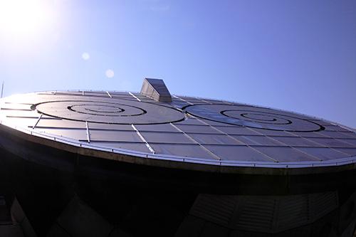 にしわき経緯度地球科学館テラ・ドームのユーモラスな外観