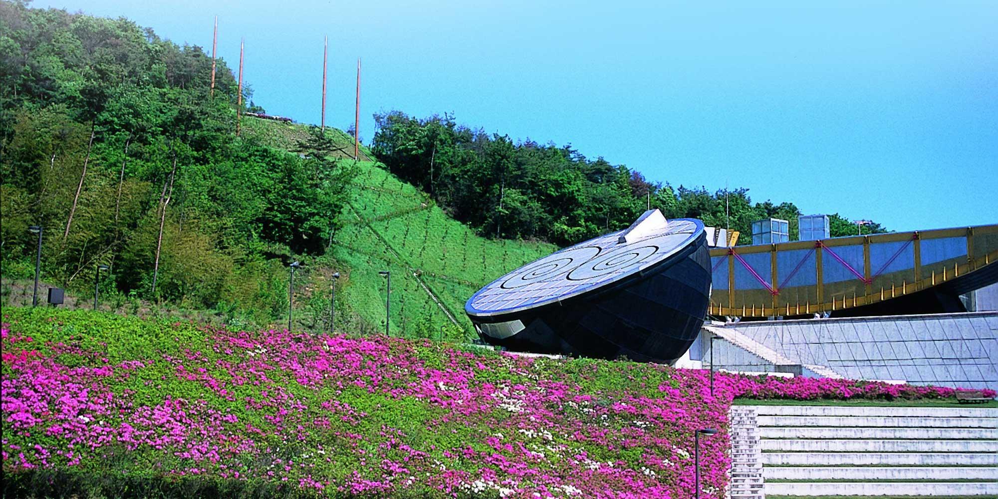 日本のまんなかにある芸術と科学の融合施設 日本へそ公園